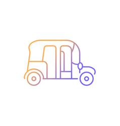 Auto rickshaw gradient linear icon vector