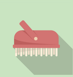 Bathroom brush icon flat bath shower vector