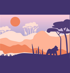 beautiful scene of nature peaceful afrian vector image