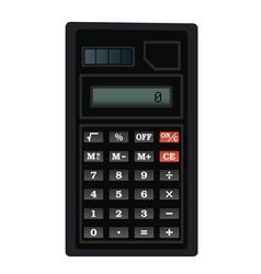Black calculator vector