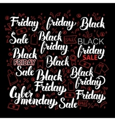 Black Friday Calligraphy Set vector image