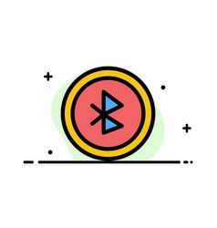 Bluetooth ui user interface business flat line vector