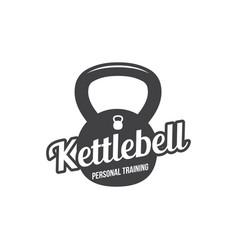 Bodybuilding powerlifting kettlebell workout vector