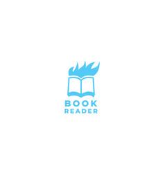 Book reader with head man icon logo design vector