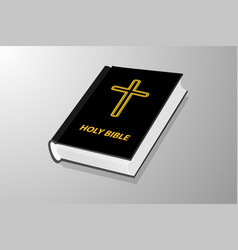 book with cross vector image