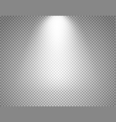Bright projector isolated on transparent vector