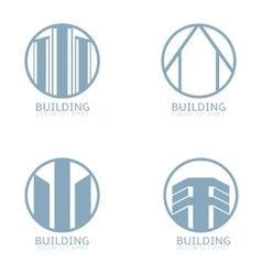 Building Logo set vector image