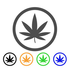 Cannabis flat icon vector