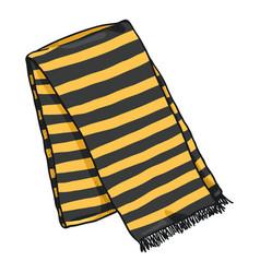 Cartoon folded striped scarf vector