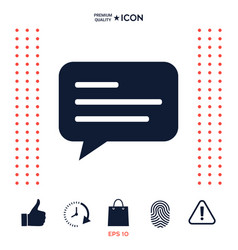 chat icon sign with text symbol vector image