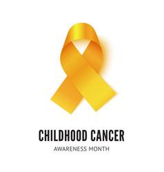 childhood cancer awareness ribbon vector image