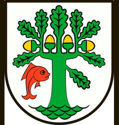 Coat of arms of oranienburg in brandenburg germany vector