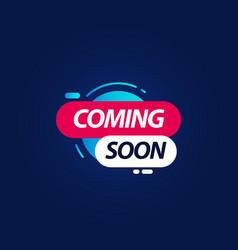 Coming soon logo template design vector