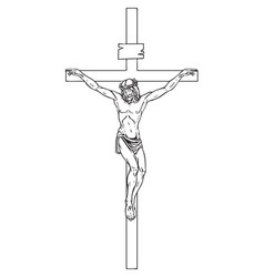 crucifixion jesus christ a religious symbol vector image