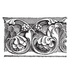 early gothic carving a large church vintage vector image