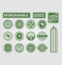 Ecologic and nature sales tag vector