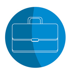 Emblem suitcase to save business documents vector