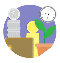 financial growth and development icon vector image