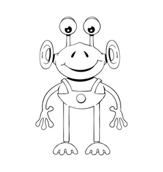 Funny cartoon alien vector