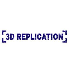 Grunge textured 3d replication stamp seal between vector
