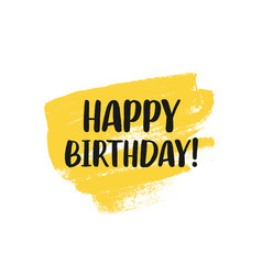 Happy birthday greeting card design with lettering vector