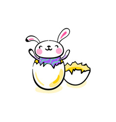 happy easter greeting background with cute smiling vector image