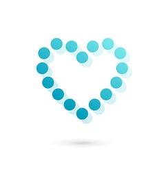Heart symbol logo icon design template vector image