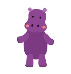 Hippopotamus standing on two legs animal cartoon vector