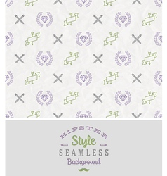 Hipster style seamless background vector image
