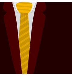 Isolated jacket with necktie design vector image