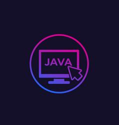 Java coding icon vector