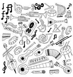 jazz - doodles vector image