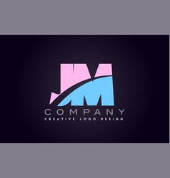Jm alphabet letter join joined letter logo design vector