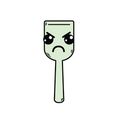 Kawaii cute angry kitchen utensil vector