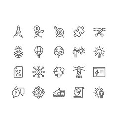 Line startup icons vector