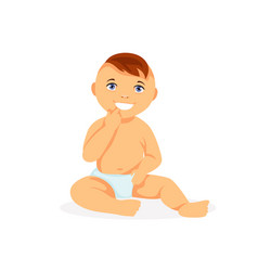 little baby vector image