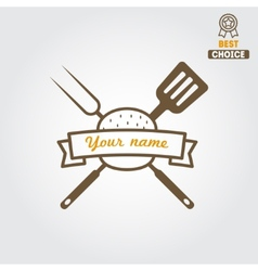 Logo label sticker for fast food restaurant vector