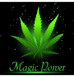 Magic ganja leaf for your design vector