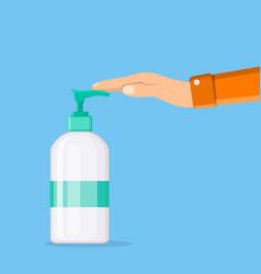 man washing hands vector image