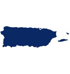 Map puerto rico in blue colour vector