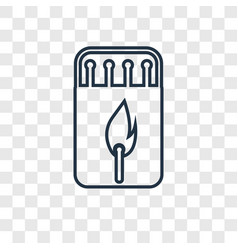 matchbox concept linear icon isolated on vector image