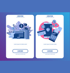 mobile phone payment icon in flat style the vector image