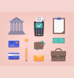 money finance payments collection business vector image