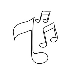music note semi quaver icon image vector image