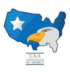 nice eagle with piece of american flag vector image
