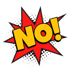 no pop art comics vector image