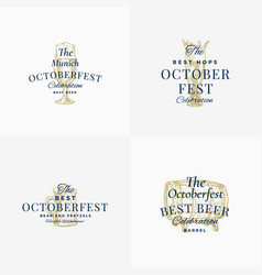 Octoberfest beer festival abstract signs vector