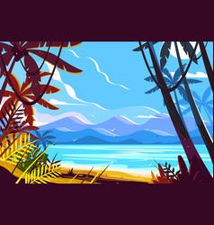 Paradise beach landscape vector