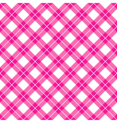 pink gingham seamless pattern vector image