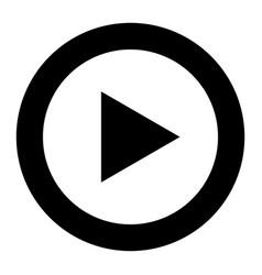 Play symbol icon vector
